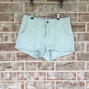 Billabong Mint Corduroy High Waist Short Shorts 26